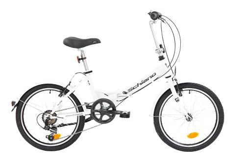 F.lli Schiano Pure Faltbares Fahrrad, Weiß/Schwarz, 20''