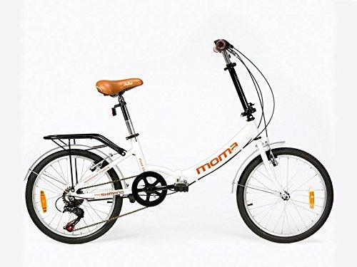 Moma Bikes First Class Klapprad, Weiß, One Size
