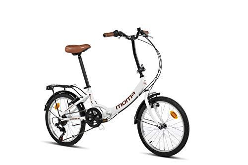Moma Bikes Unisex– Erwachsene First Class weiß...