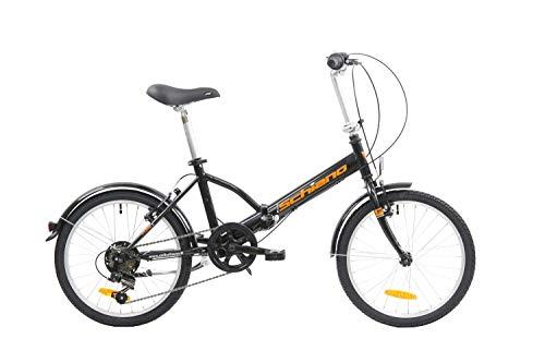 F.lli Schiano Pure Faltbares Fahrrad, Schwarz-Orange, 20''