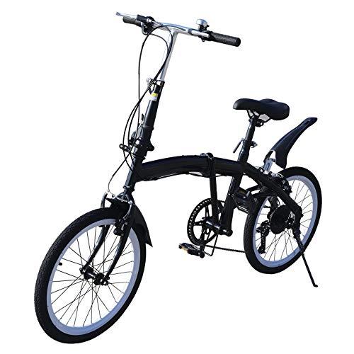 Klapprad, 20 Zoll 7 Gang Fahrrad Doppel V Bremse...