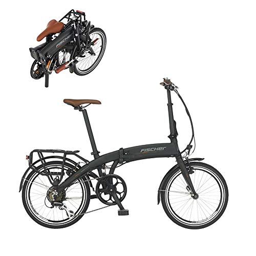 Fischer E-Bike Klapprad / Faltrad FR18, graphitschwarz matt,...