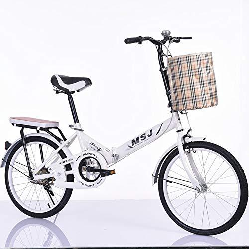 AI-QX 20 Zoll Klapprad Faltrad Klappfahrrad Urban Bike,Weiß