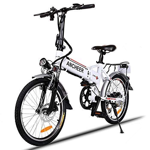 ANCHEER Elektrofahrrad, Faltbares E-Bike Faltrad, 20/26 Zoll...