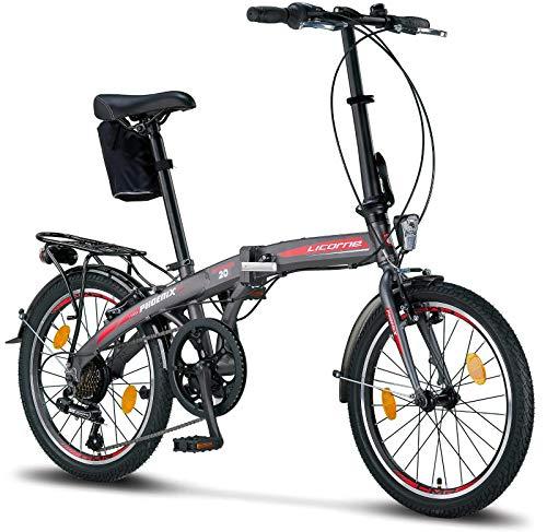 Licorne Bike Phoenix, 20 Zoll Aluminium-Faltrad-Klapprad,...