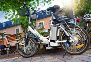 E-Bike Elektrofahrrad in der Stadt